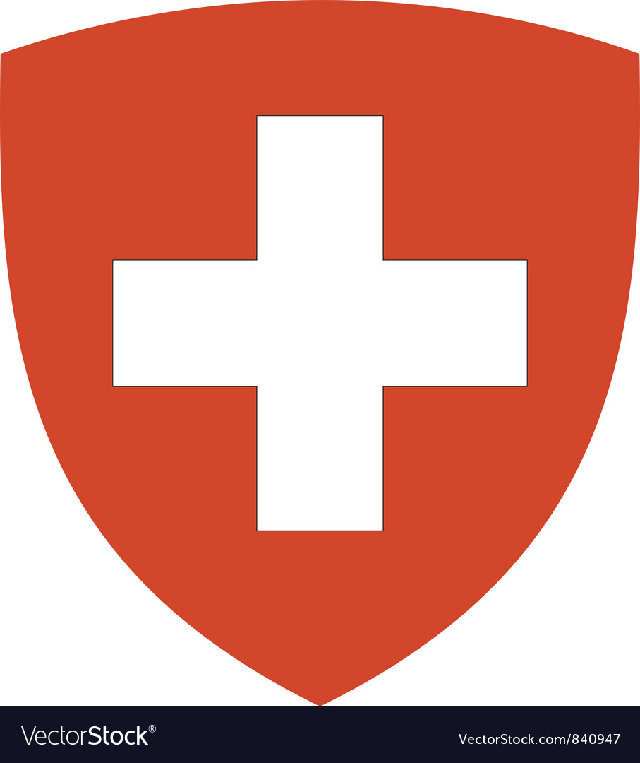 Coat of arms of switzerland vector | Price: 1 Credit (USD $1)