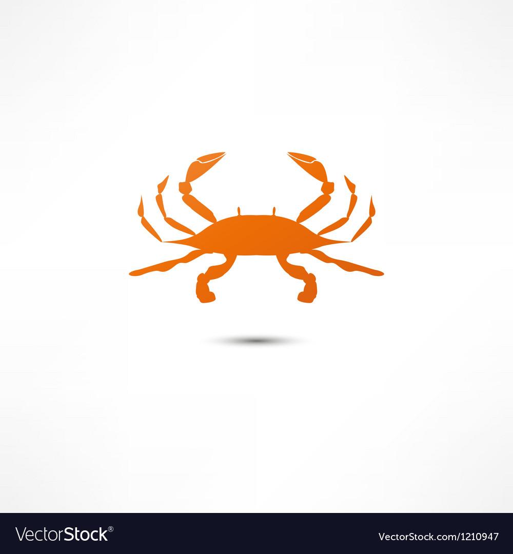 Crab icon vector | Price: 1 Credit (USD $1)