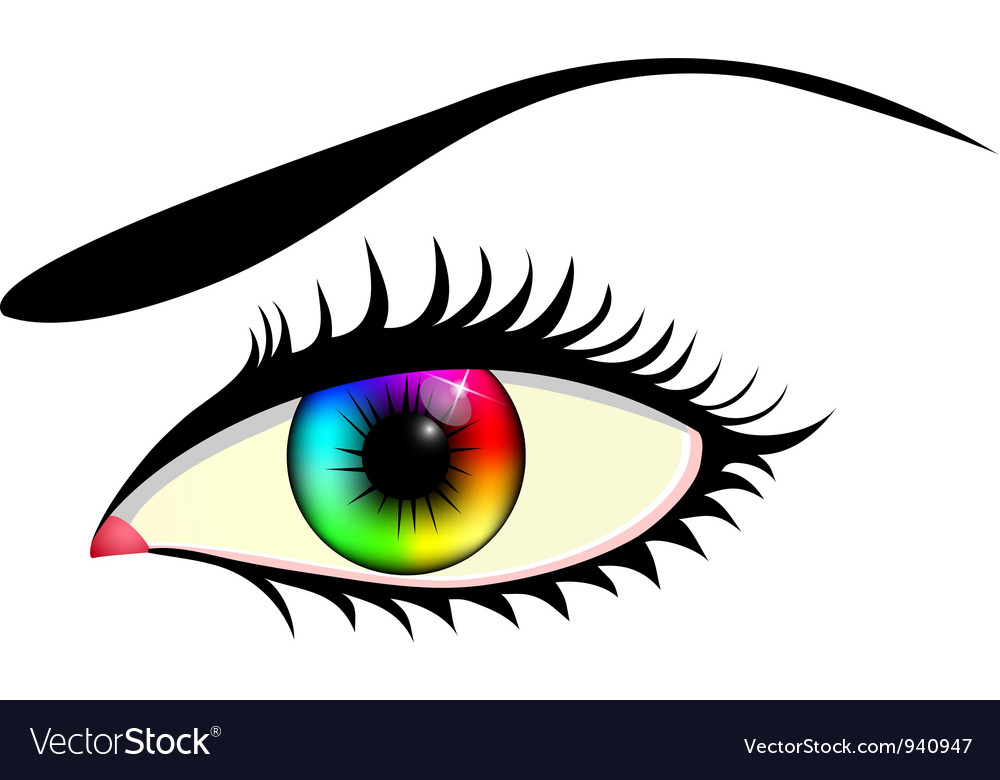 Eye with colorful iris vector   Price: 1 Credit (USD $1)