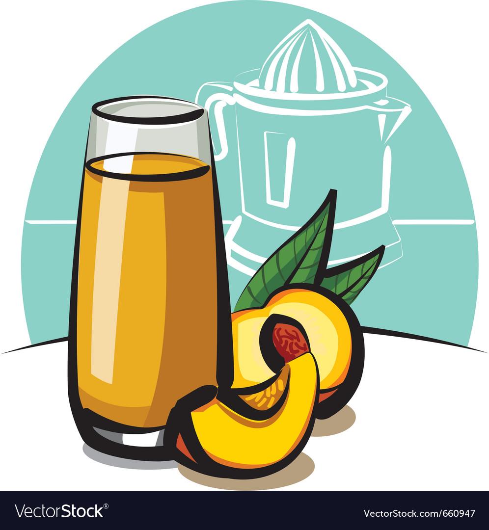 Fresh peach juice vector | Price: 3 Credit (USD $3)