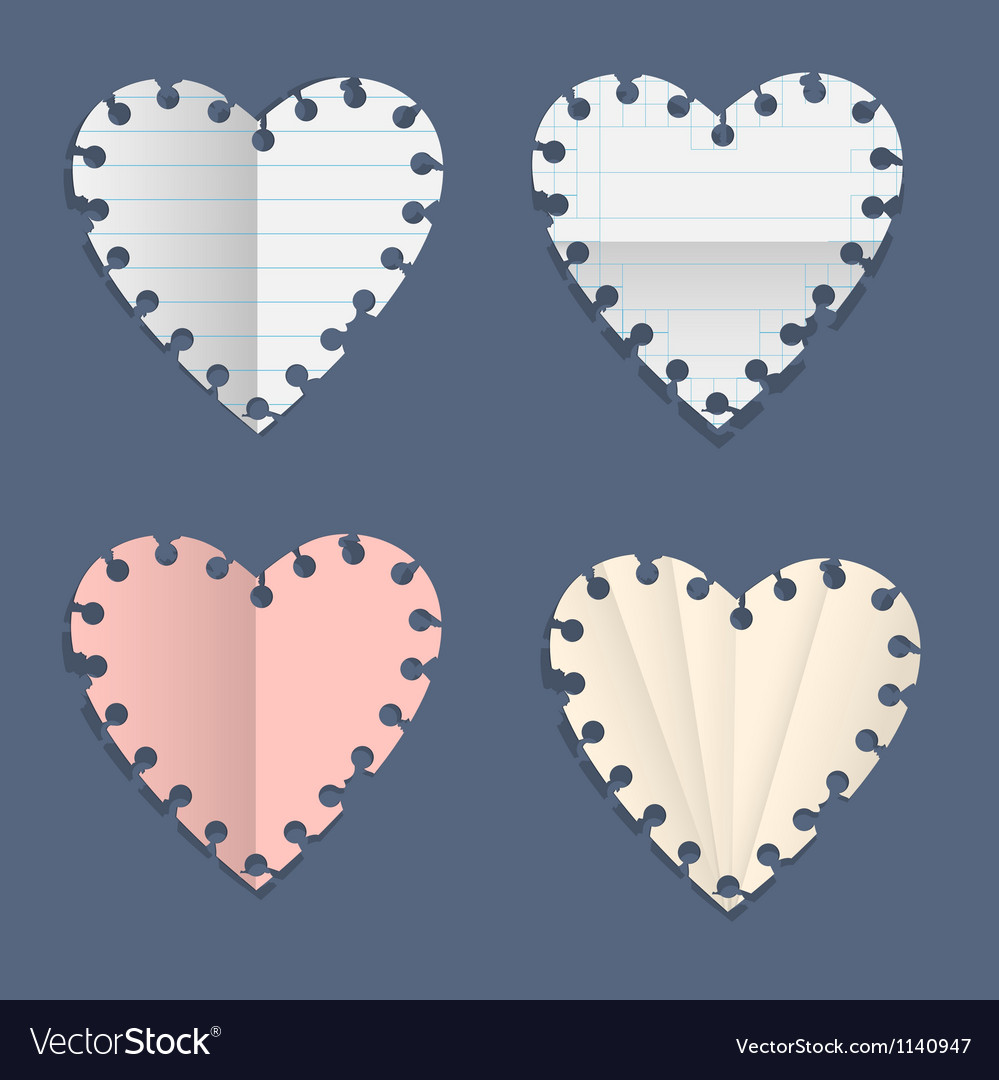 Hearts paper note vector | Price: 1 Credit (USD $1)