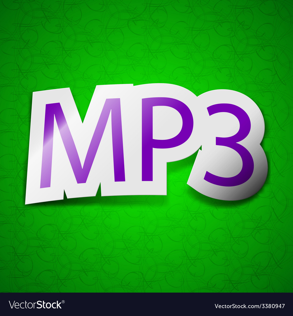 Mp3 music format icon sign symbol chic colored vector | Price: 1 Credit (USD $1)