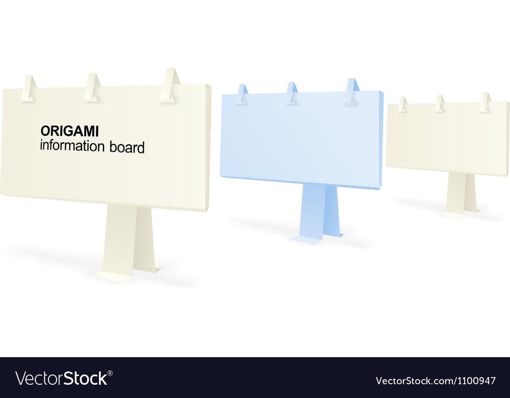Origami information boards vector | Price: 1 Credit (USD $1)