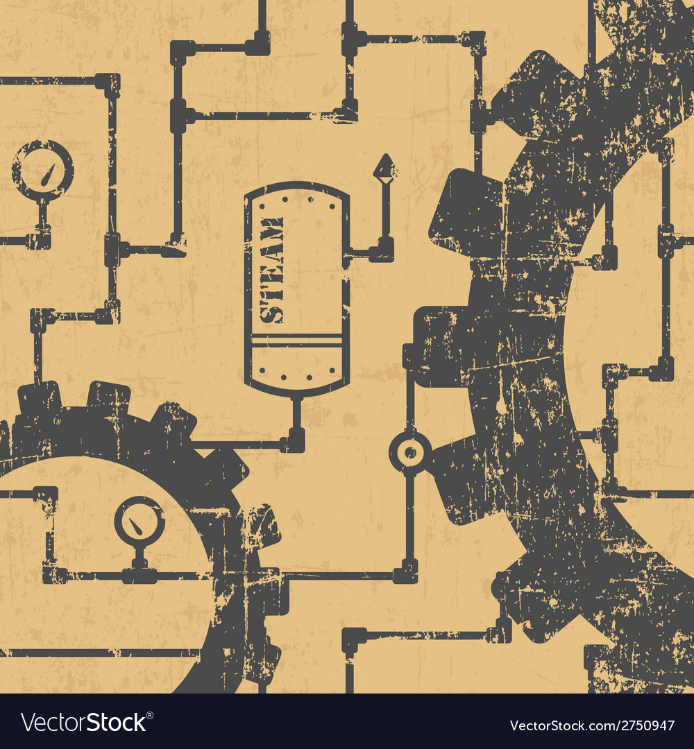Steampunk pattern vector | Price: 1 Credit (USD $1)