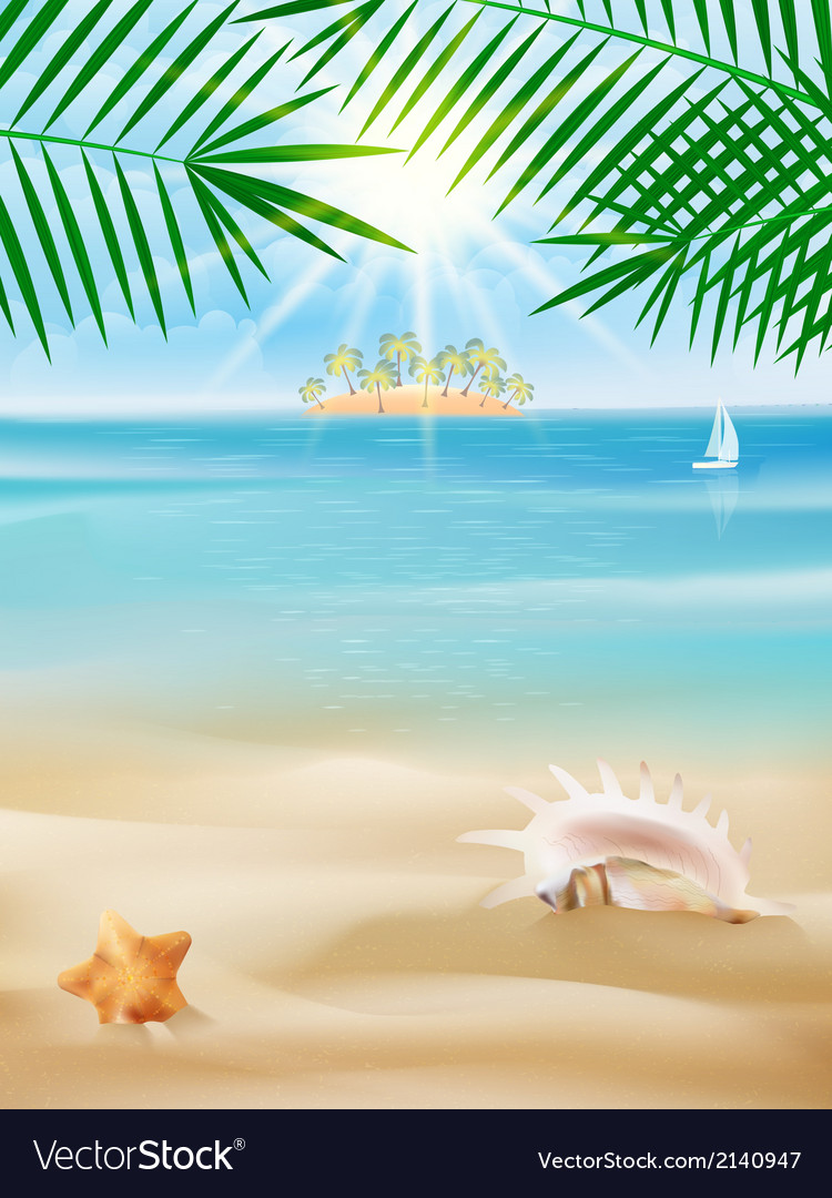 Summer tropical poster design vector   Price: 1 Credit (USD $1)