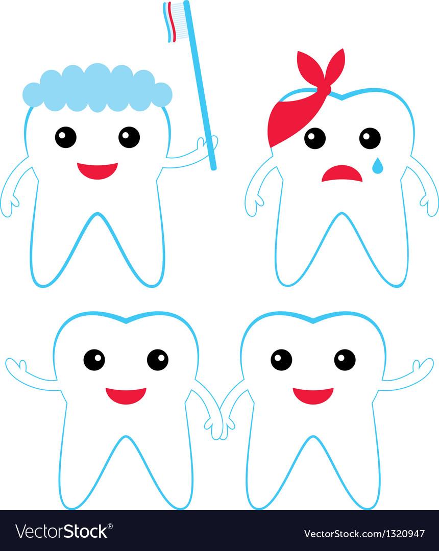 Teeth characters vector | Price: 1 Credit (USD $1)
