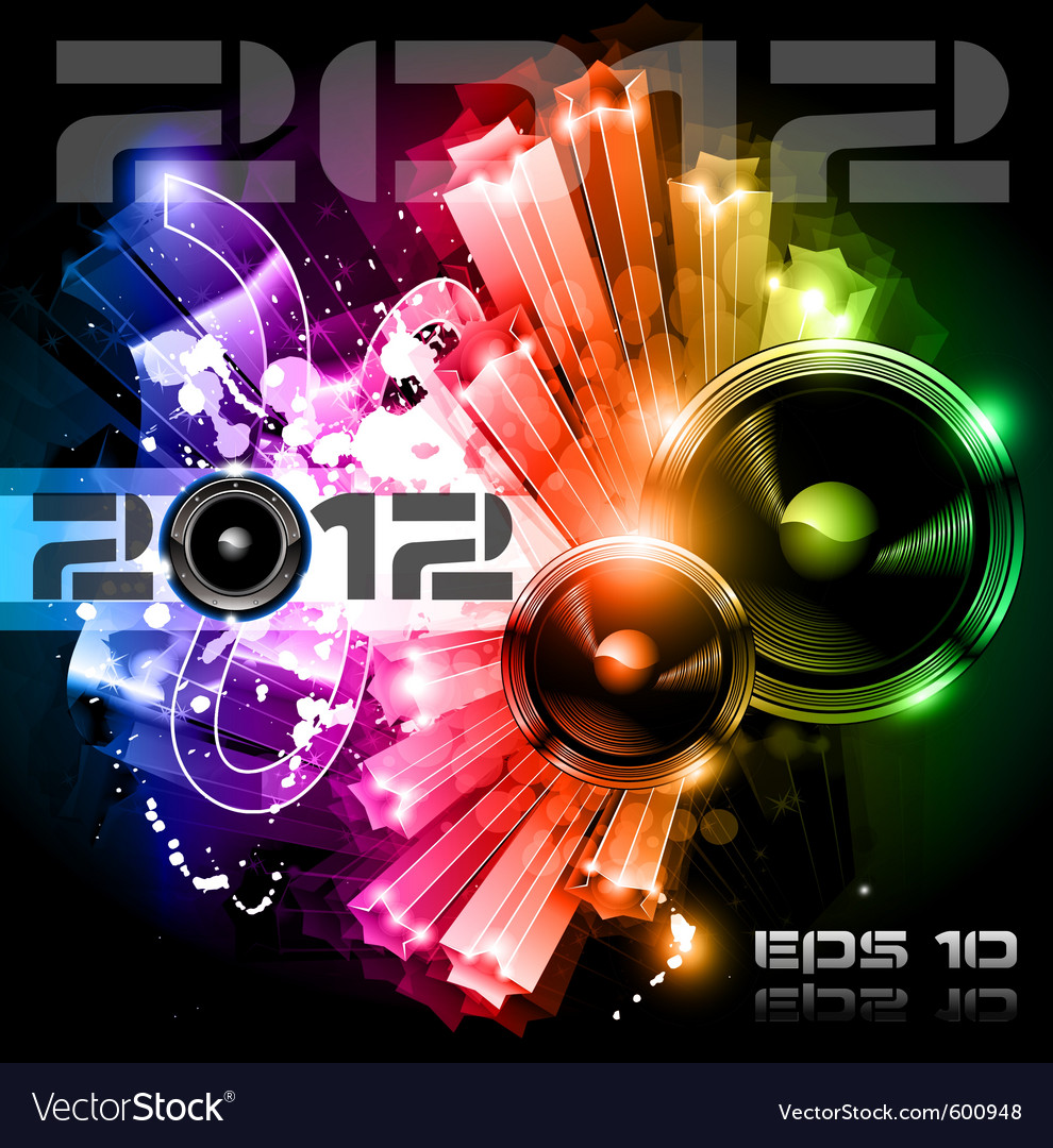 2012 new year celebration vector | Price: 1 Credit (USD $1)