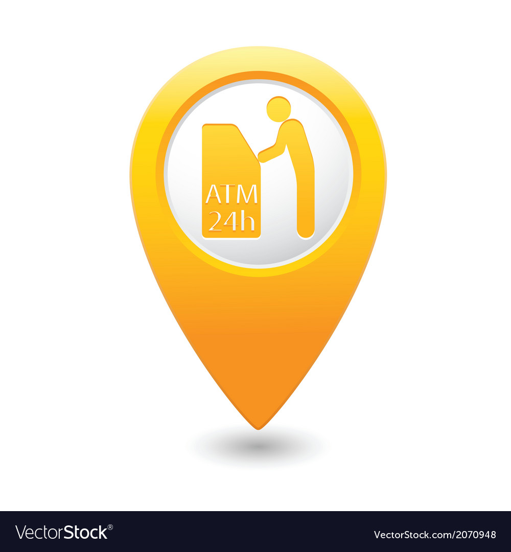 Atm icon yellow pointer2 vector | Price: 1 Credit (USD $1)