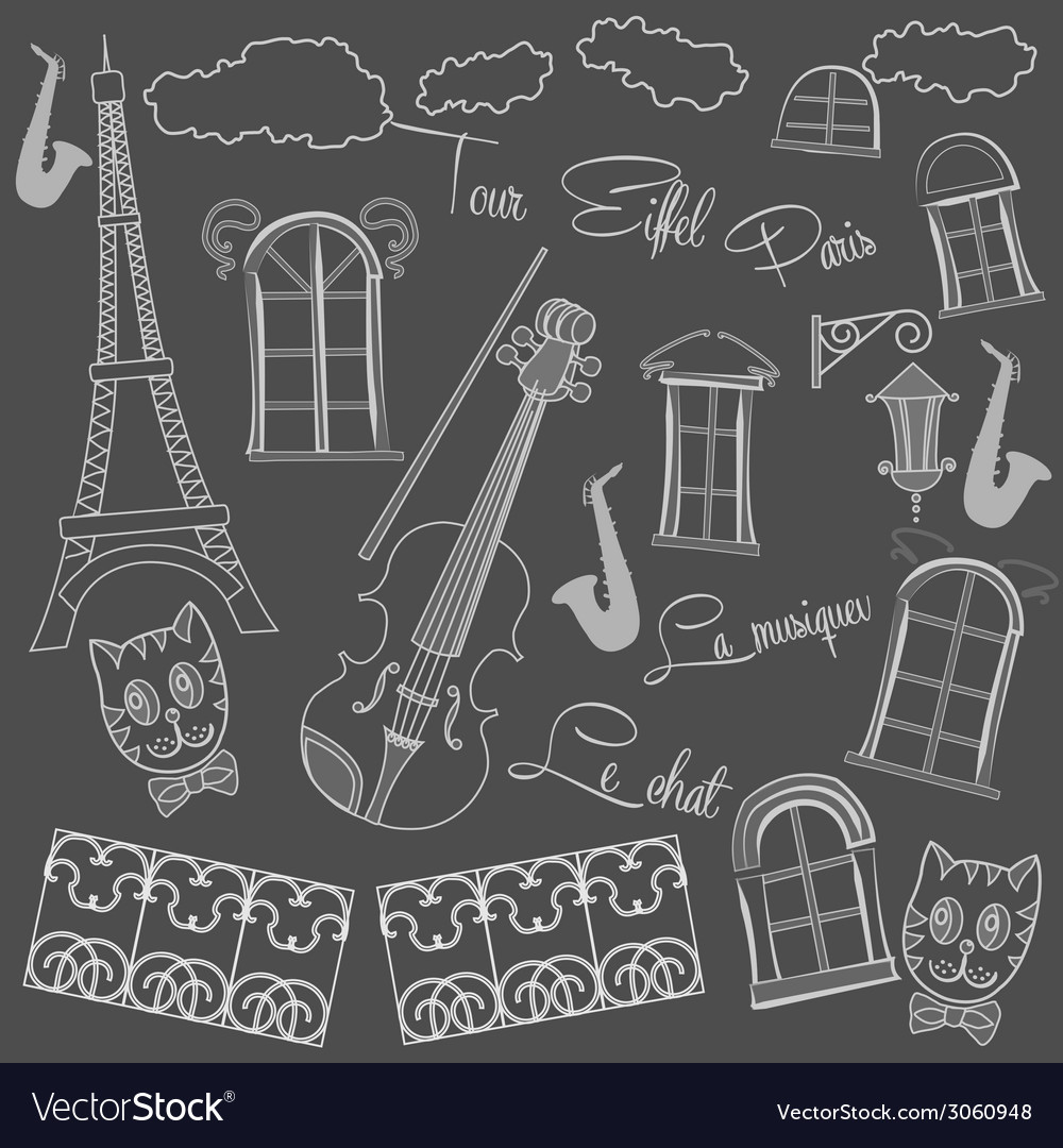 Background with saxophone on chalkboard vector | Price: 1 Credit (USD $1)