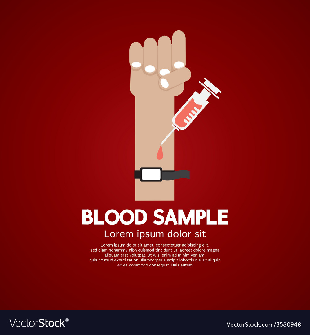 Blood sample medical concept vector | Price: 1 Credit (USD $1)