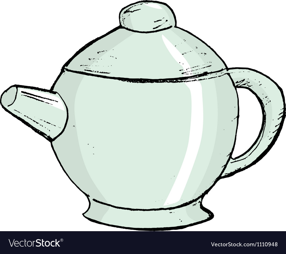 China teapot vector | Price: 1 Credit (USD $1)