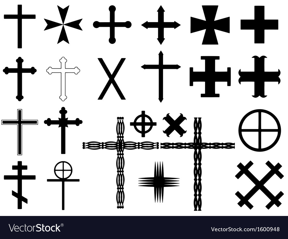 Cross vector | Price: 1 Credit (USD $1)