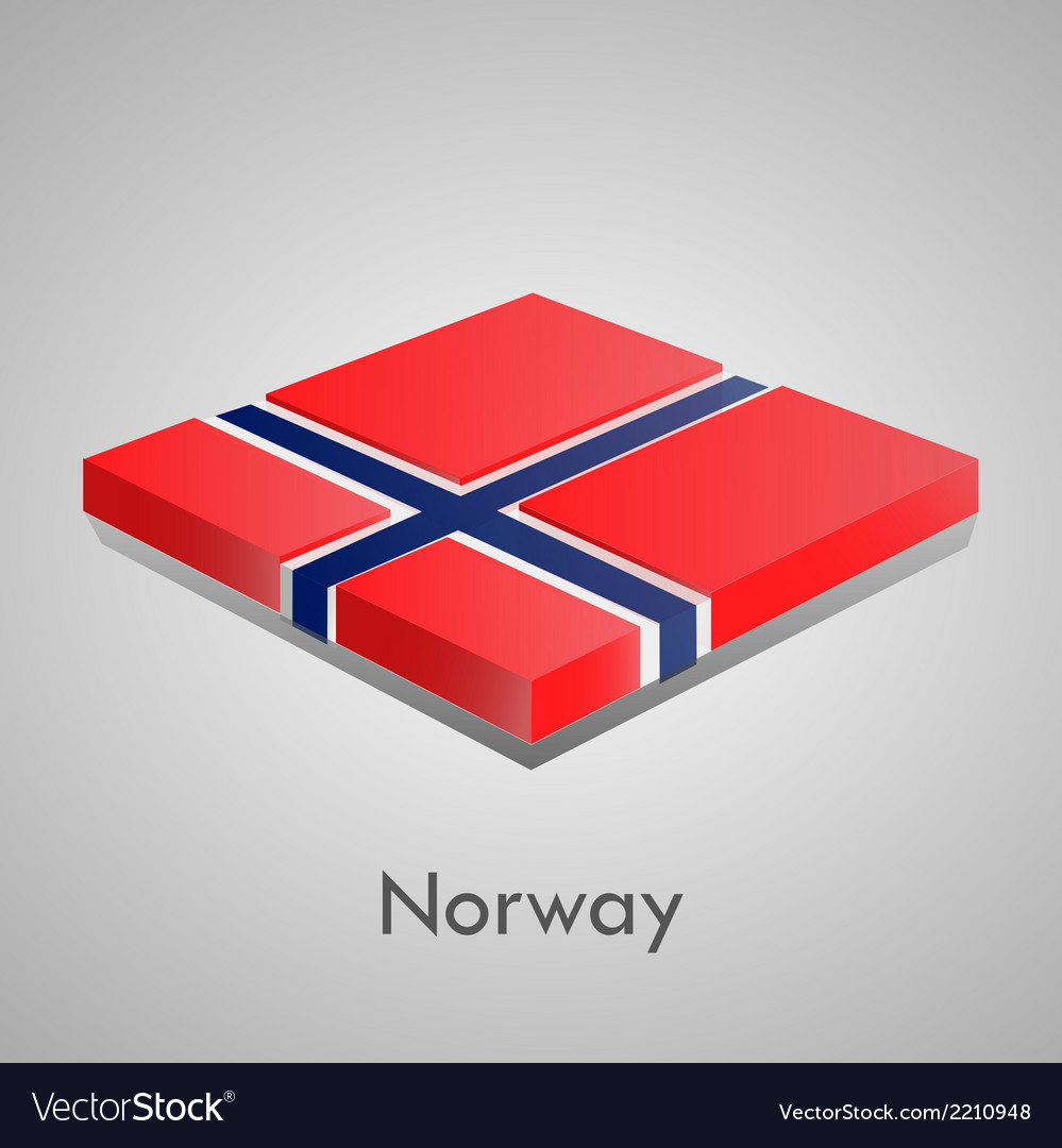 European flags set - norway vector | Price: 1 Credit (USD $1)