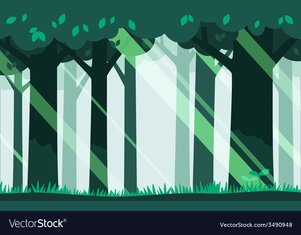 Green forest background vector | Price: 1 Credit (USD $1)