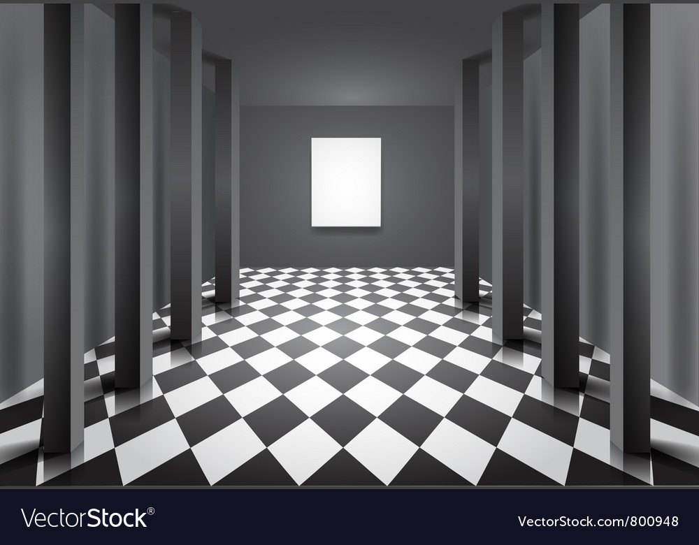 Hall with columns vector | Price: 1 Credit (USD $1)