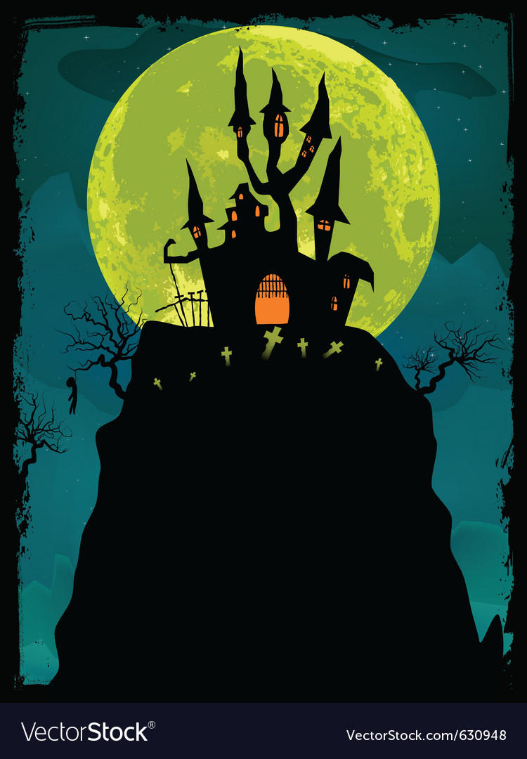 Halloween poster background eps 8 vector | Price: 1 Credit (USD $1)