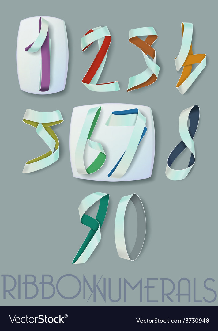 Numerals vector | Price: 1 Credit (USD $1)