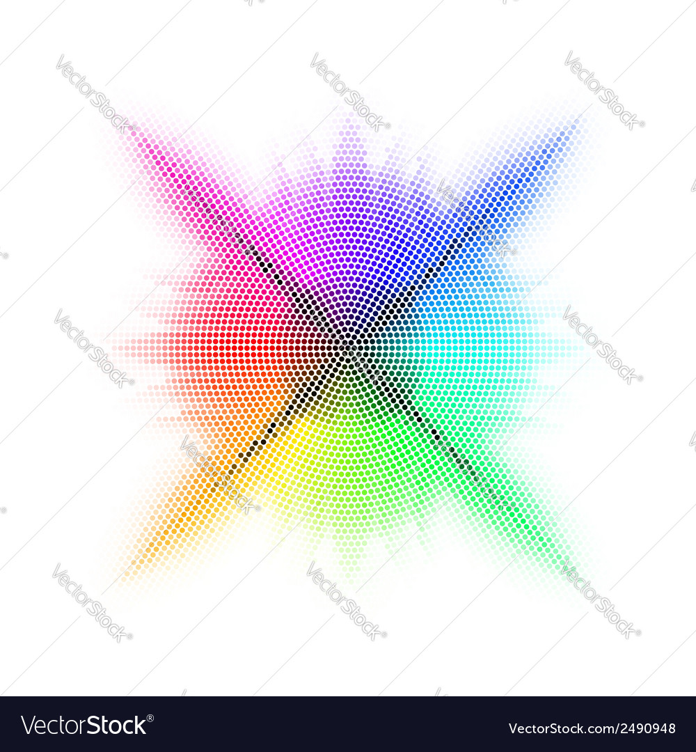 Rainbow mosaic vector | Price: 1 Credit (USD $1)