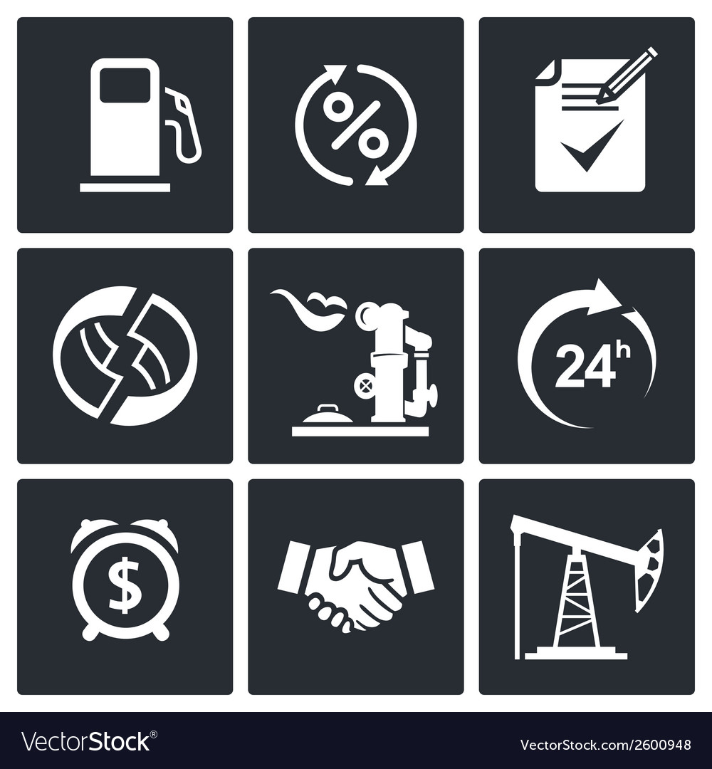 Sale of petroleum products icon set vector | Price: 1 Credit (USD $1)