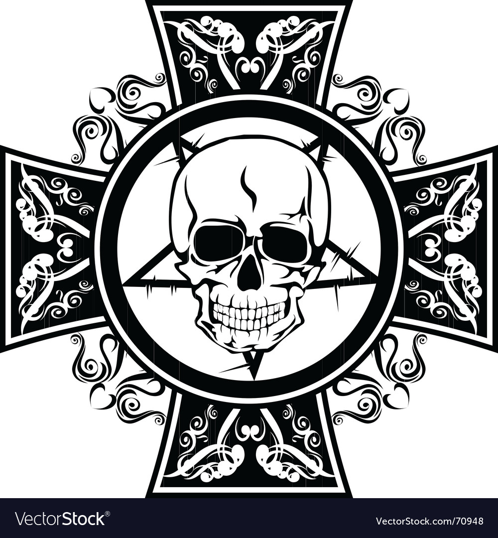 Skull and cross vector | Price:  Credit (USD $)
