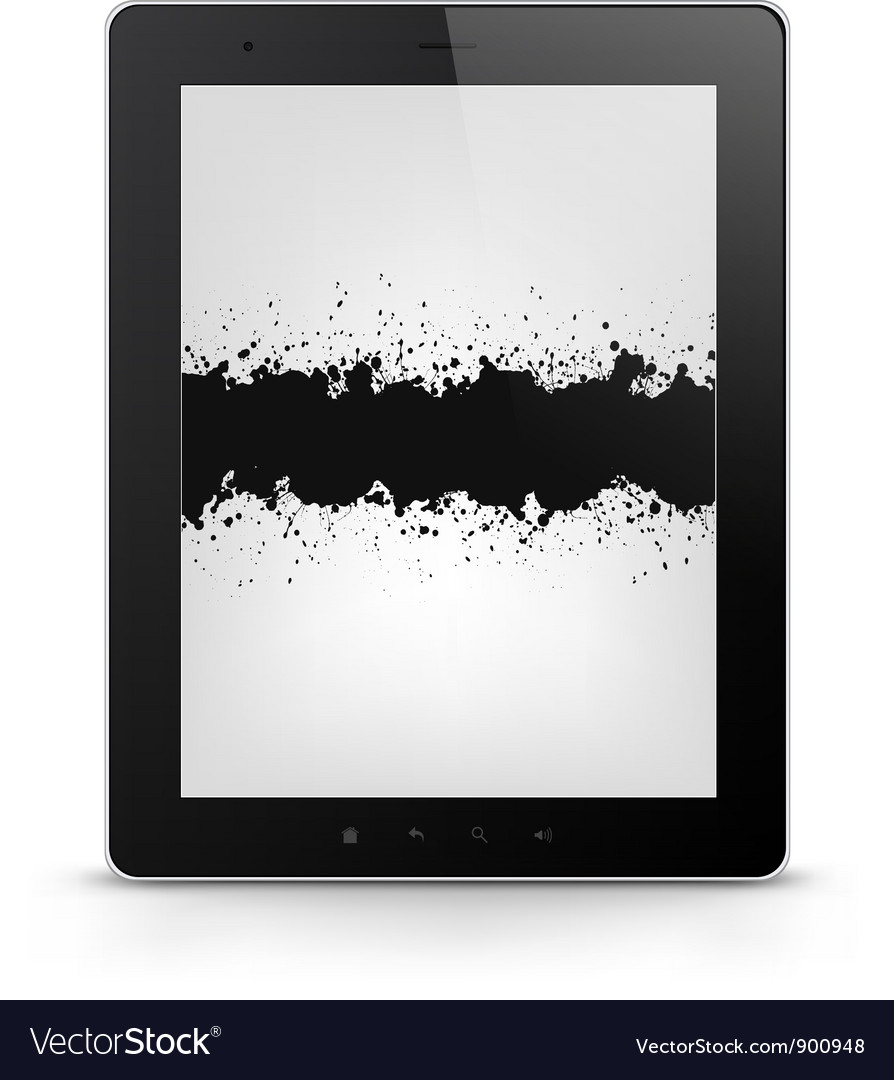 Tablet pc with grunge vector | Price: 1 Credit (USD $1)