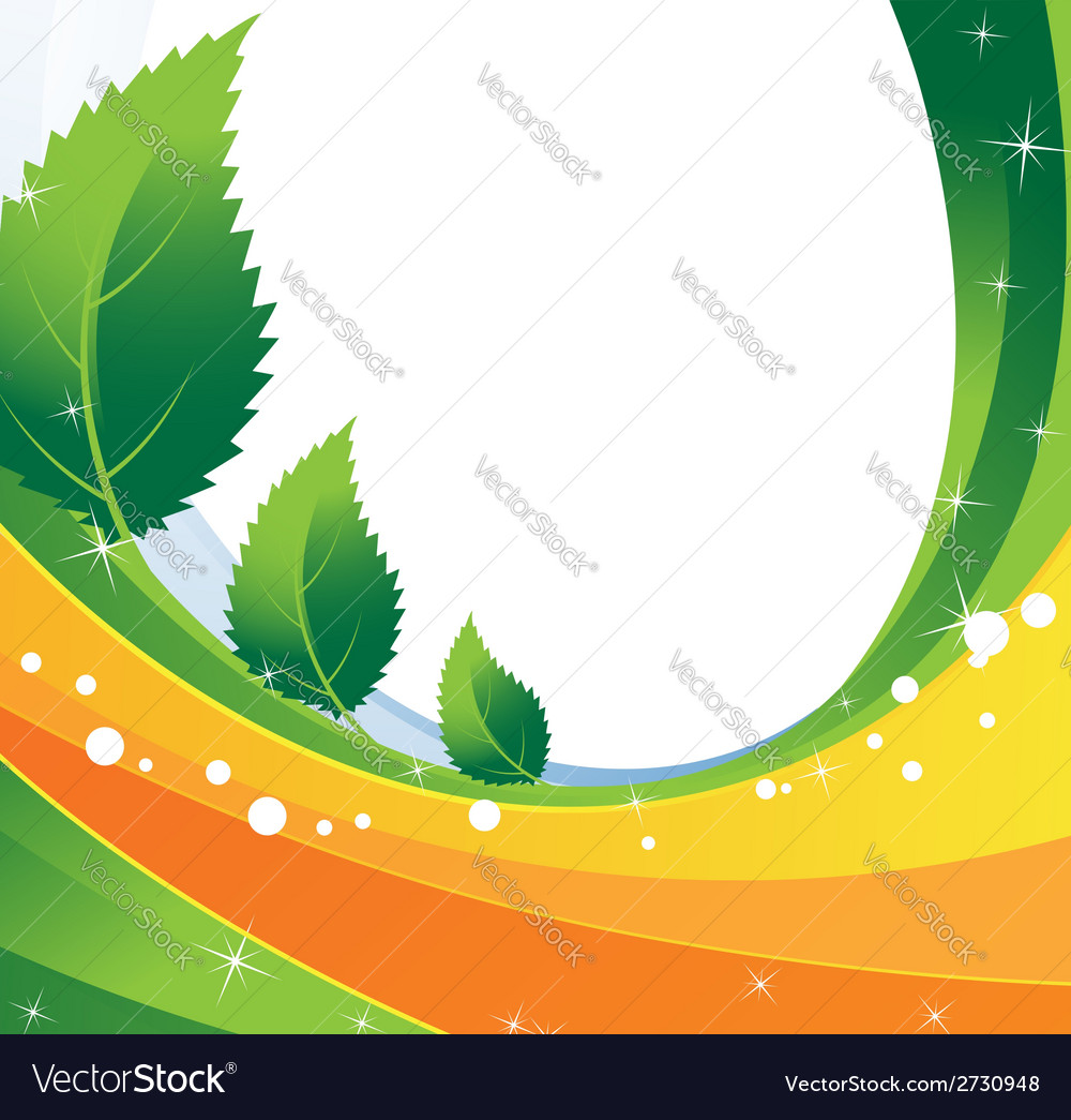 Three spiky leaves vector | Price: 1 Credit (USD $1)