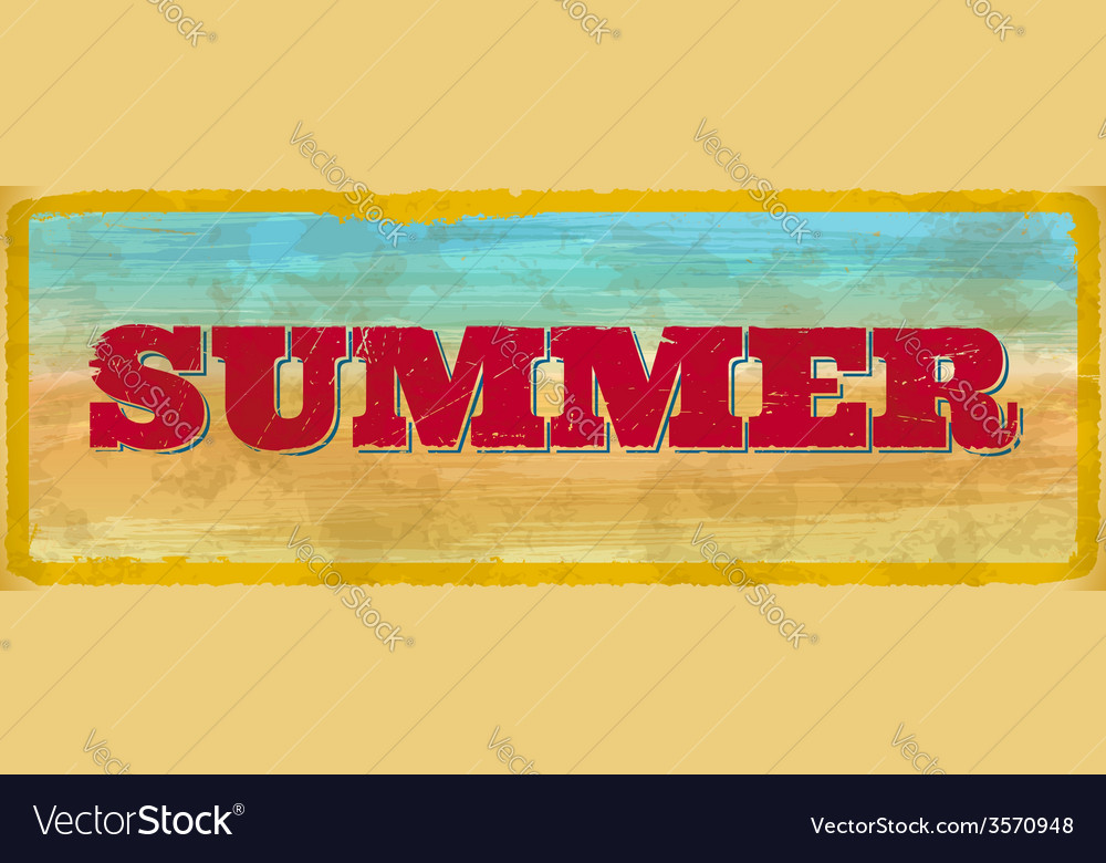 Vintage summer sign vector | Price: 1 Credit (USD $1)