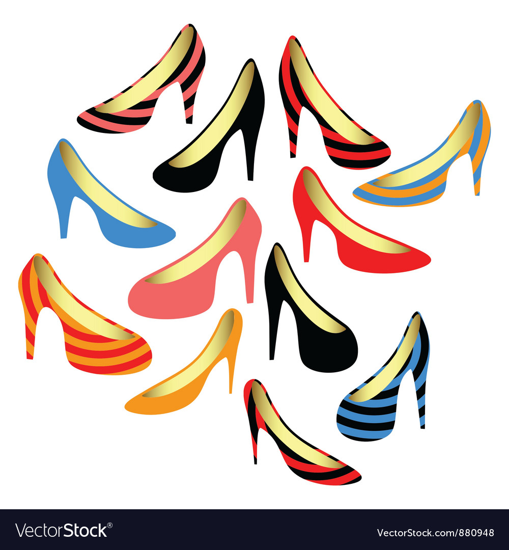 Womens shoes on a white background vector   Price: 1 Credit (USD $1)