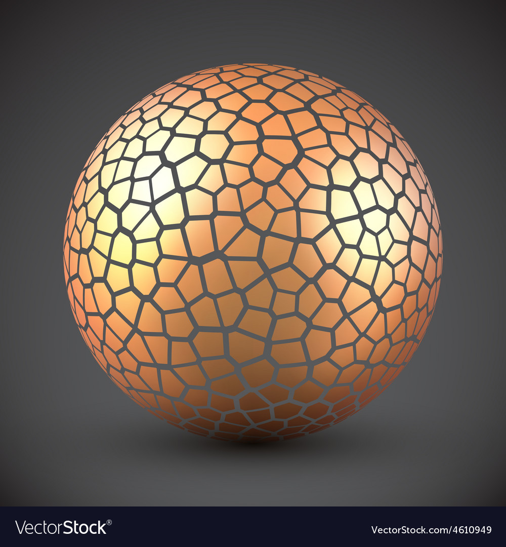 Abstract cracked sphere vector | Price: 1 Credit (USD $1)