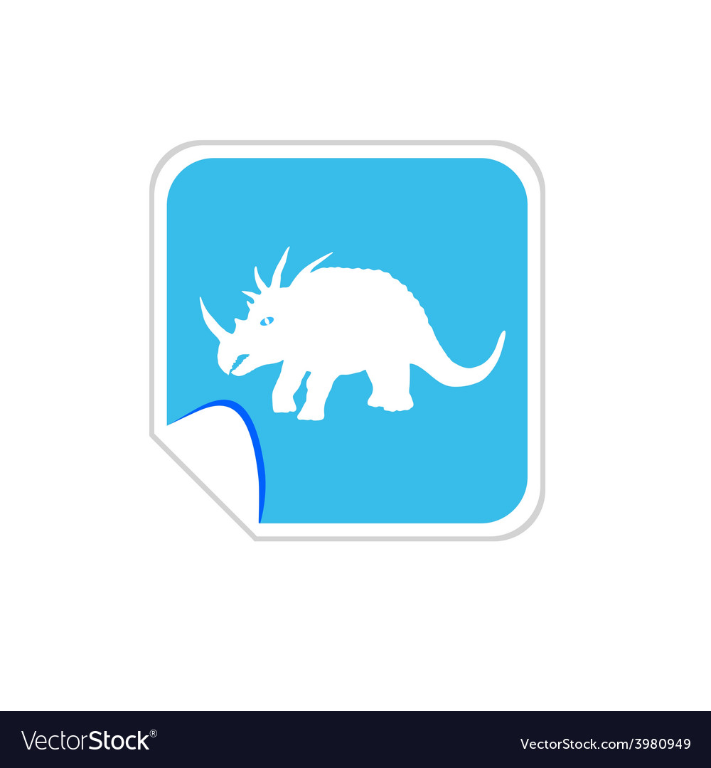 Baby dinosaur on blue vector | Price: 1 Credit (USD $1)