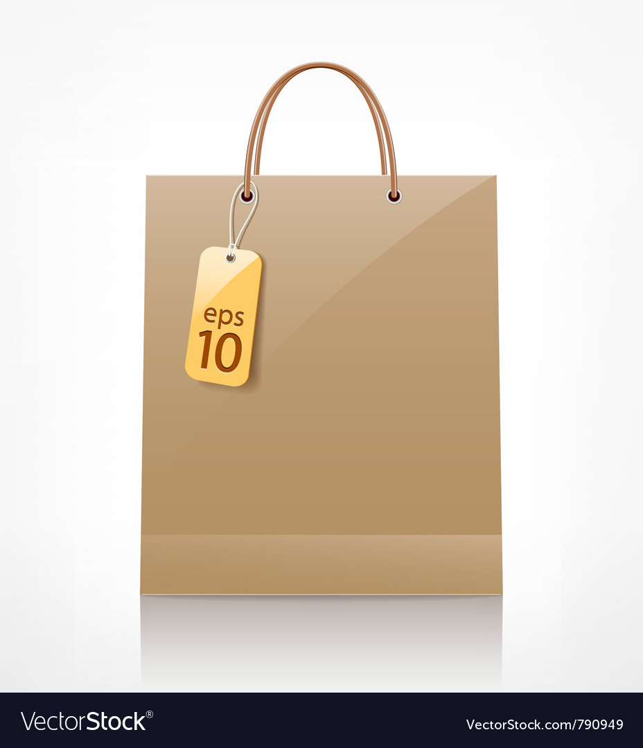 Bag brown shopping vector | Price: 1 Credit (USD $1)