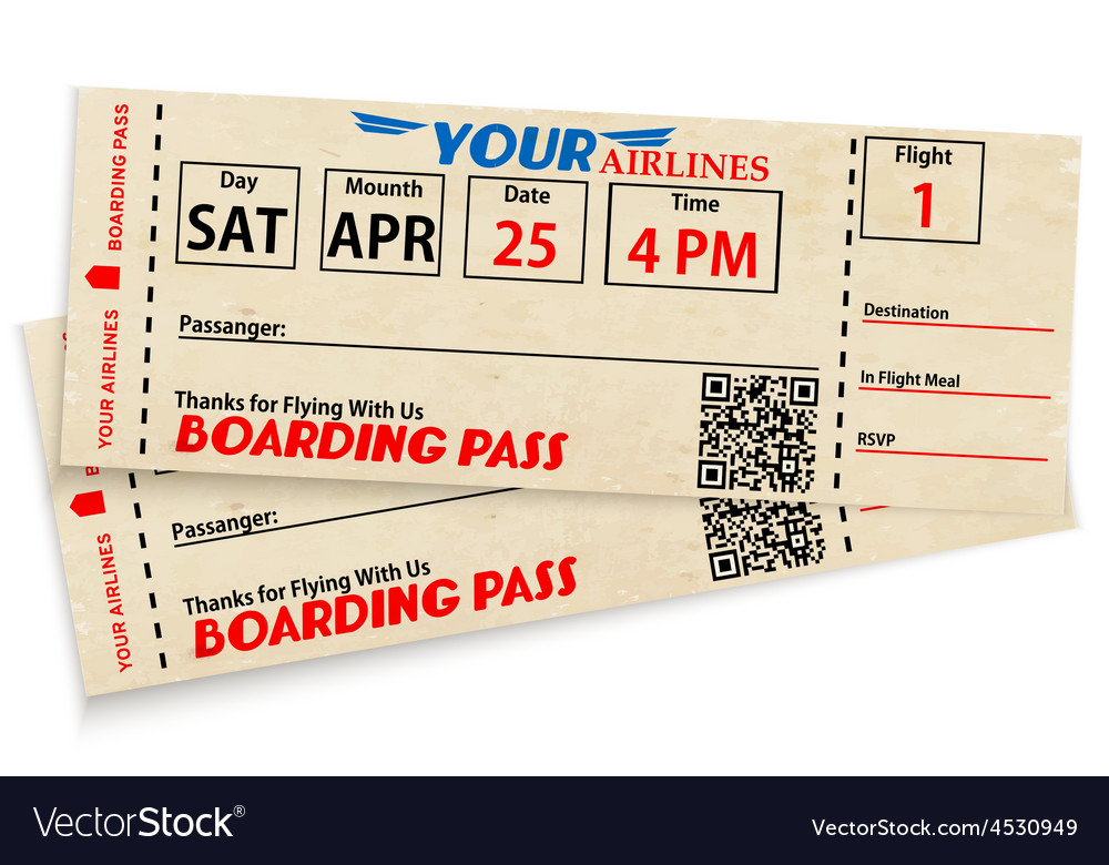 Boarding pass tickets vector | Price: 1 Credit (USD $1)