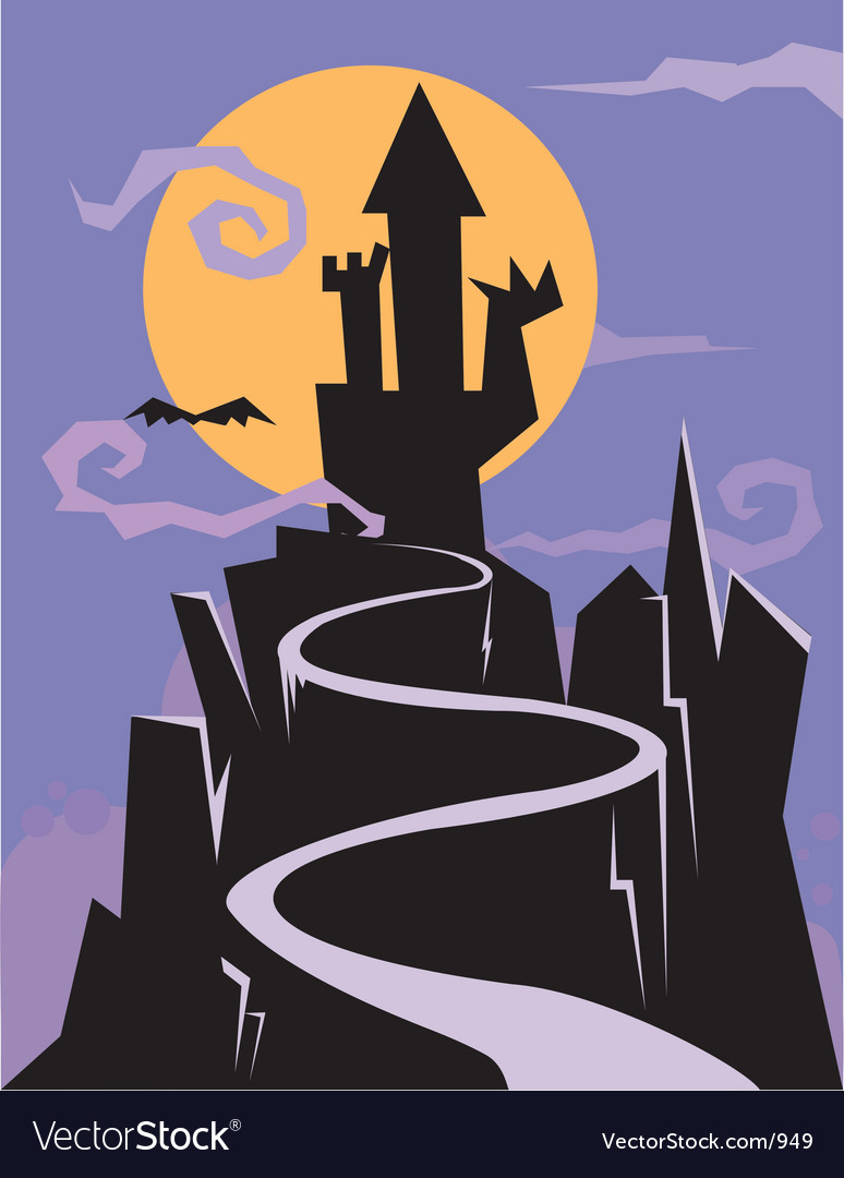 Castle of nightmares vector | Price: 1 Credit (USD $1)