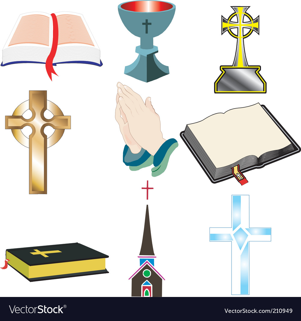 Church icons vector | Price: 1 Credit (USD $1)