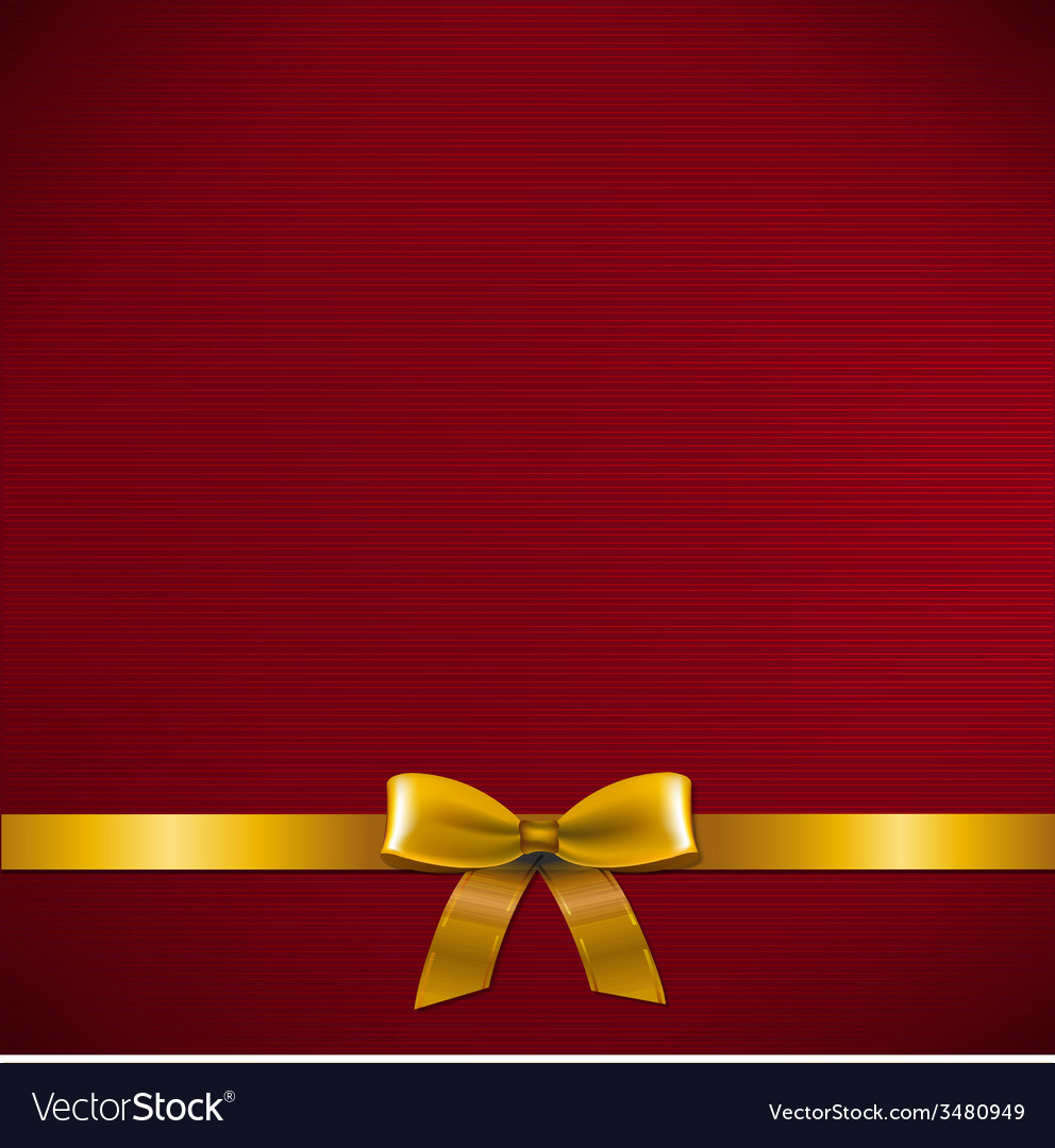 Dark red card with golden ribbon vector | Price: 1 Credit (USD $1)