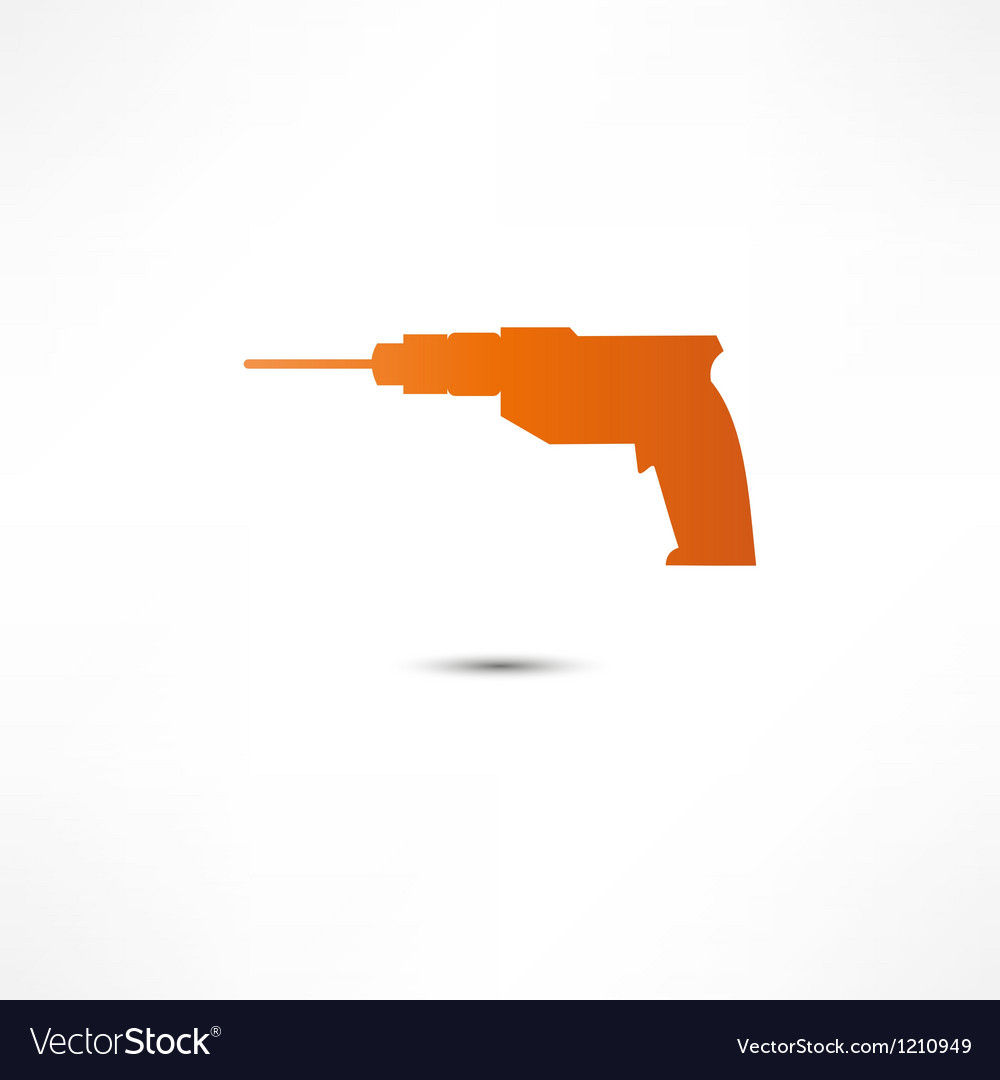 Drill icon vector | Price: 1 Credit (USD $1)