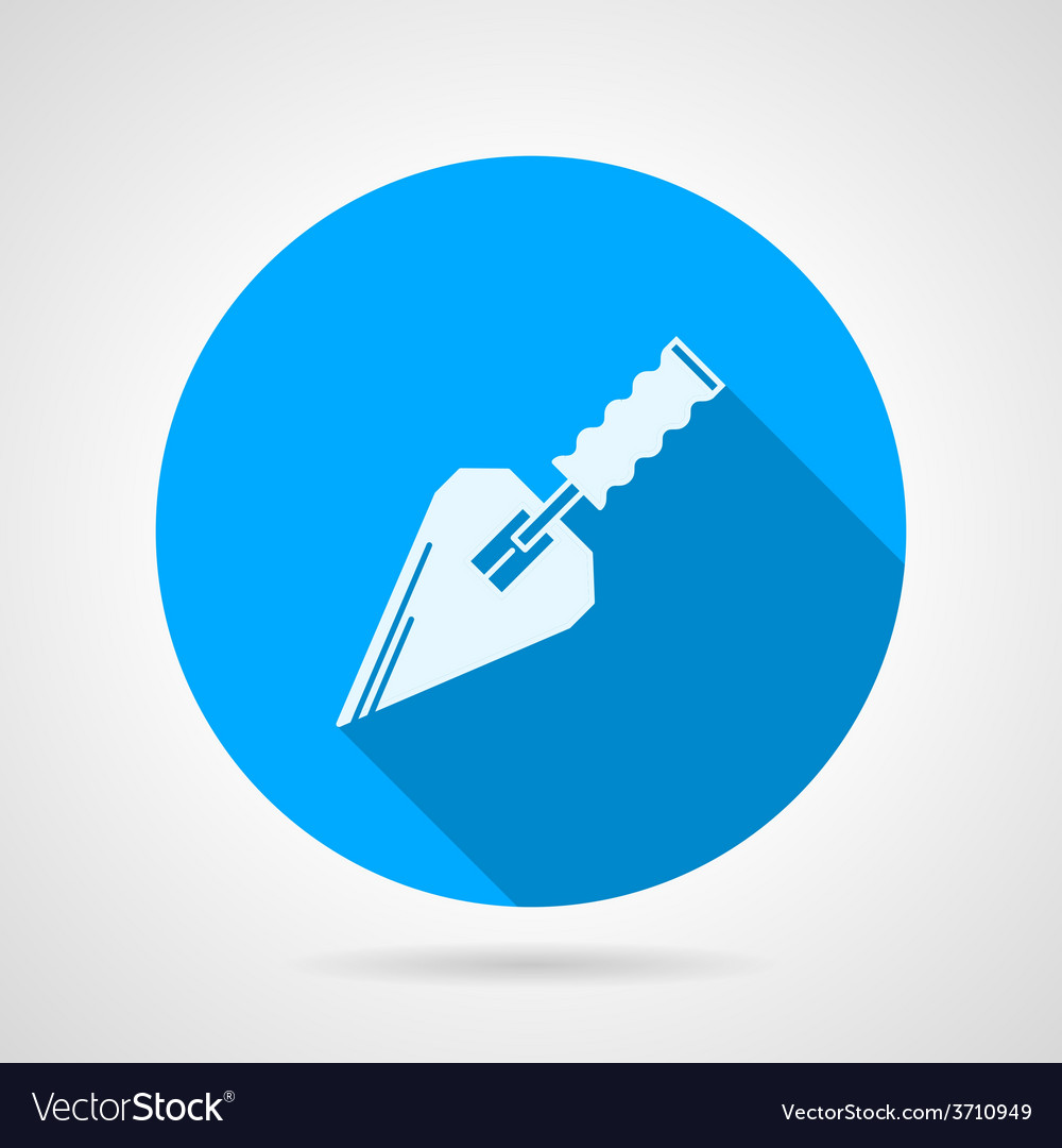 Flat icon for construction trowel vector | Price: 1 Credit (USD $1)