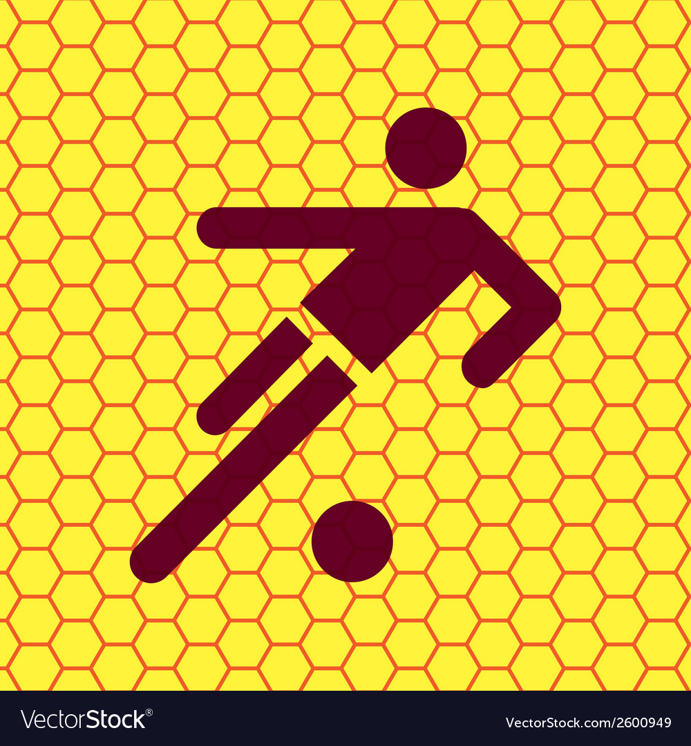 Football player flat modern web button and space vector | Price: 1 Credit (USD $1)