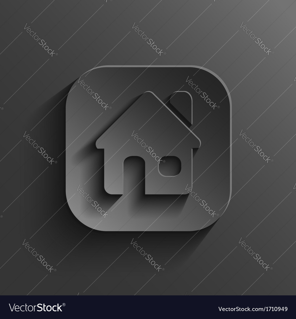 Home icon - black app button vector | Price: 1 Credit (USD $1)