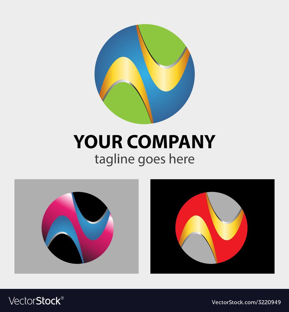 Logo circle abstract global media technology ico vector | Price: 1 Credit (USD $1)
