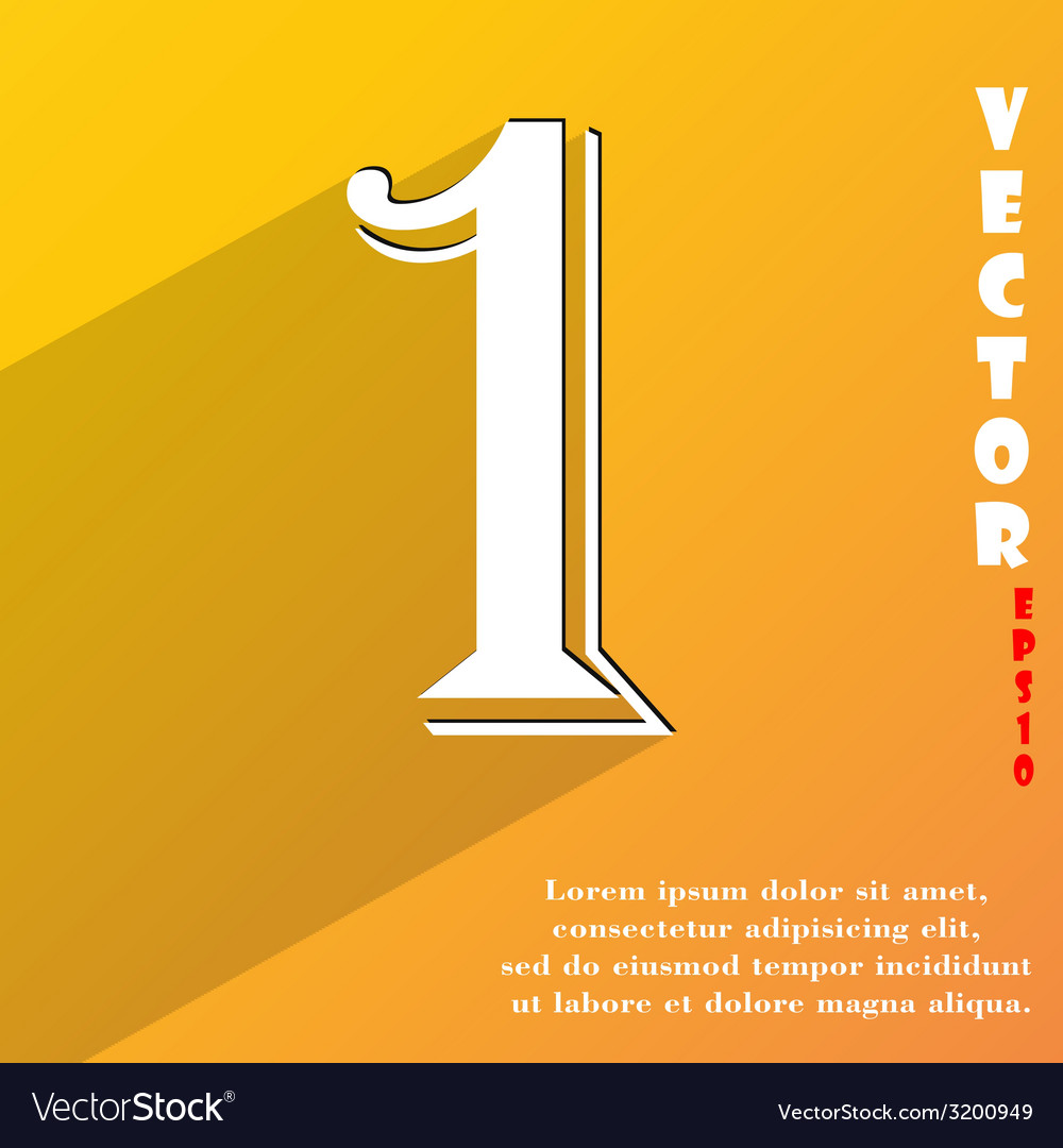 Number one icon symbol flat modern web design with vector   Price: 1 Credit (USD $1)