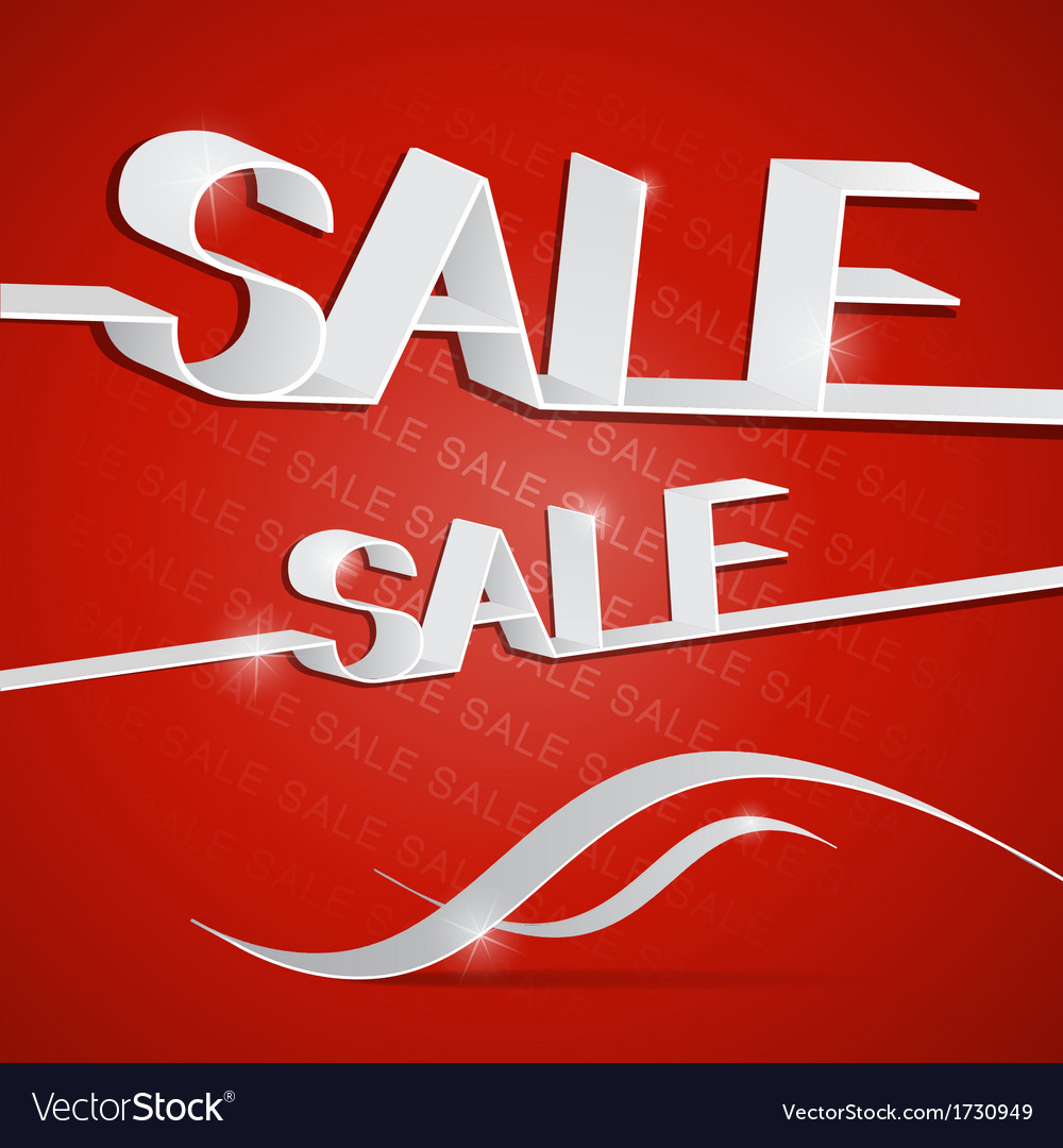 Sale red vector | Price: 1 Credit (USD $1)