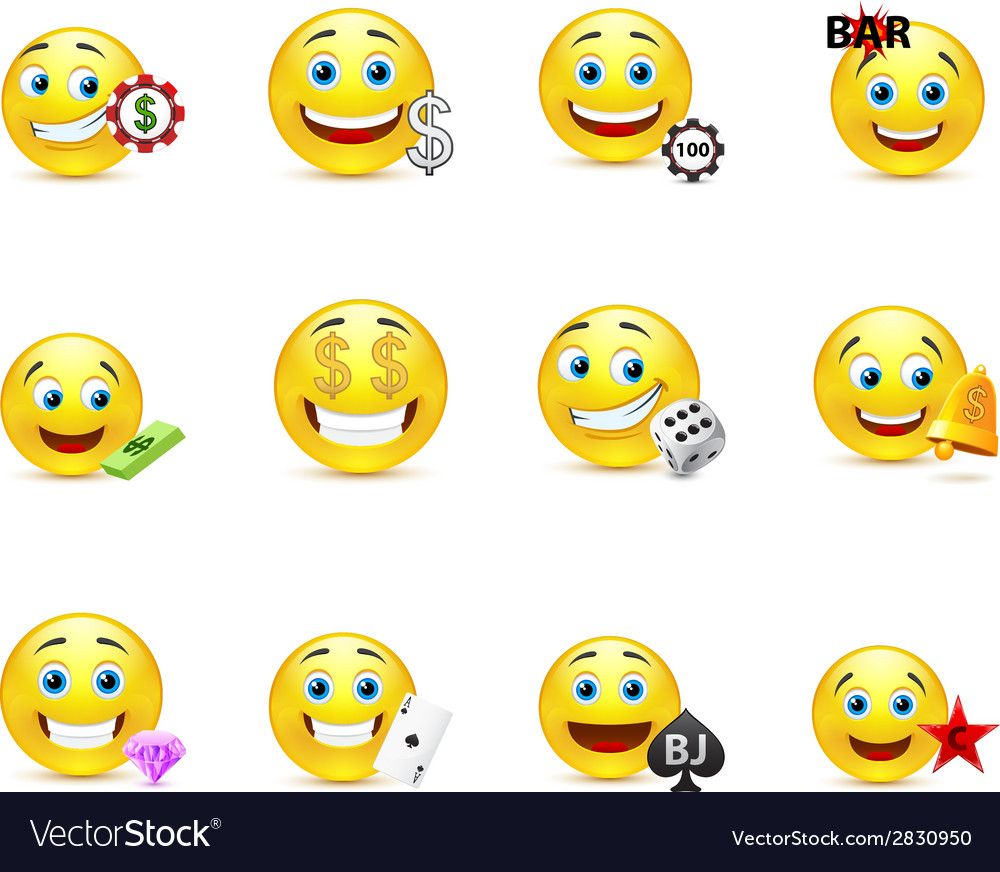 A set of emoticons with money signs vector | Price: 1 Credit (USD $1)