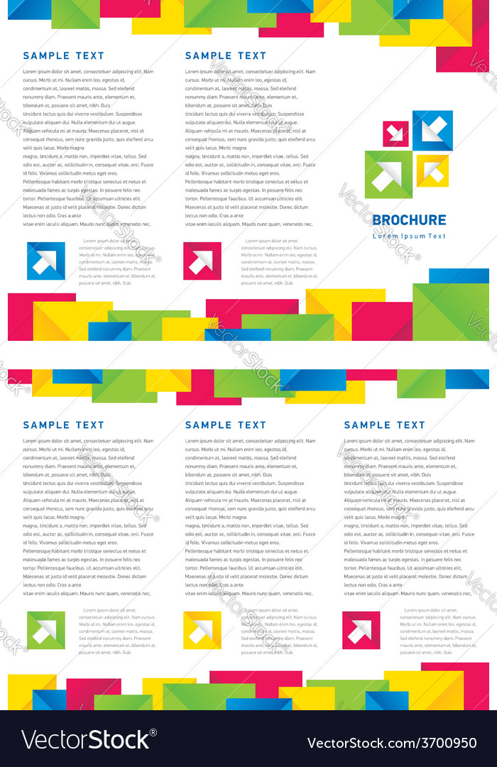 Brochure tri-fold layout design template colorful vector | Price: 1 Credit (USD $1)