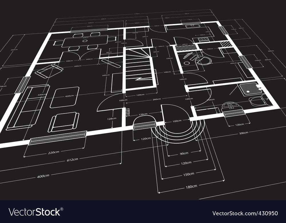 Building plans vector | Price: 1 Credit (USD $1)