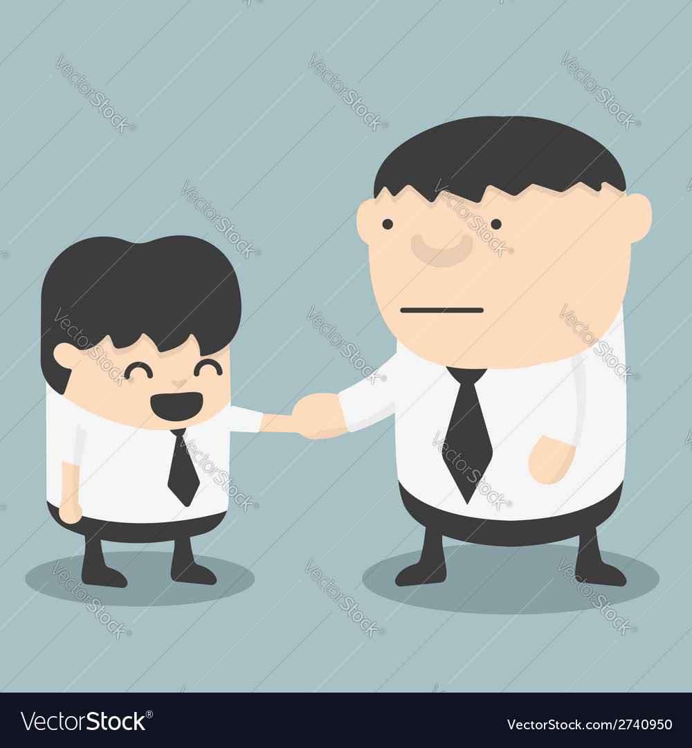Businessman shaking hands vector | Price: 1 Credit (USD $1)