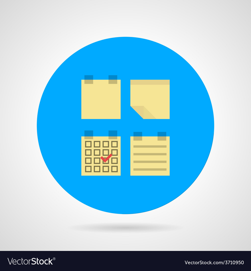 Flat icon for sticky note vector | Price: 1 Credit (USD $1)