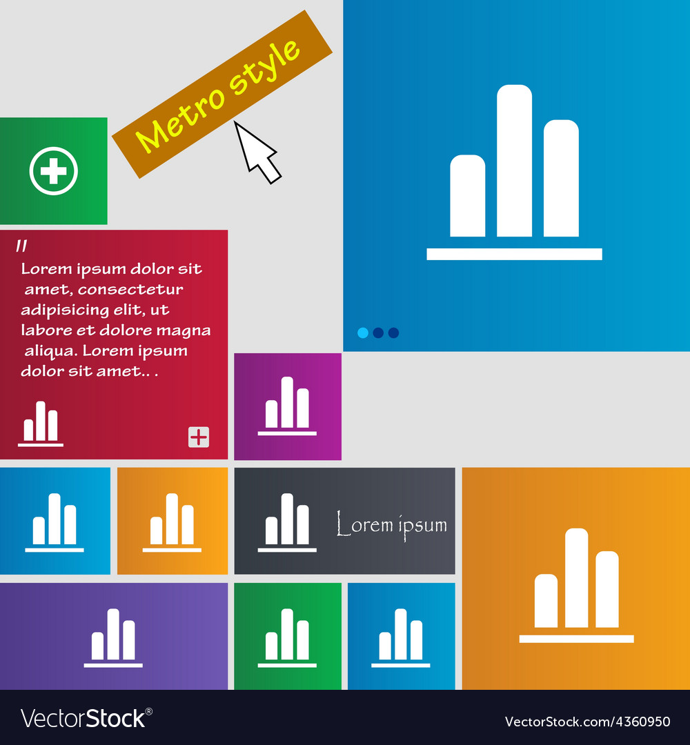 Growth and development concept graph of rate icon vector | Price: 1 Credit (USD $1)
