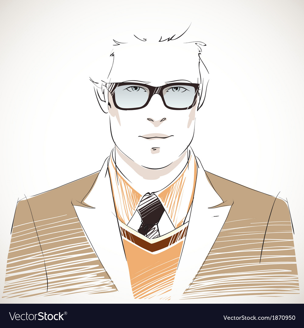 Handsome young businessman portrait vector | Price: 1 Credit (USD $1)