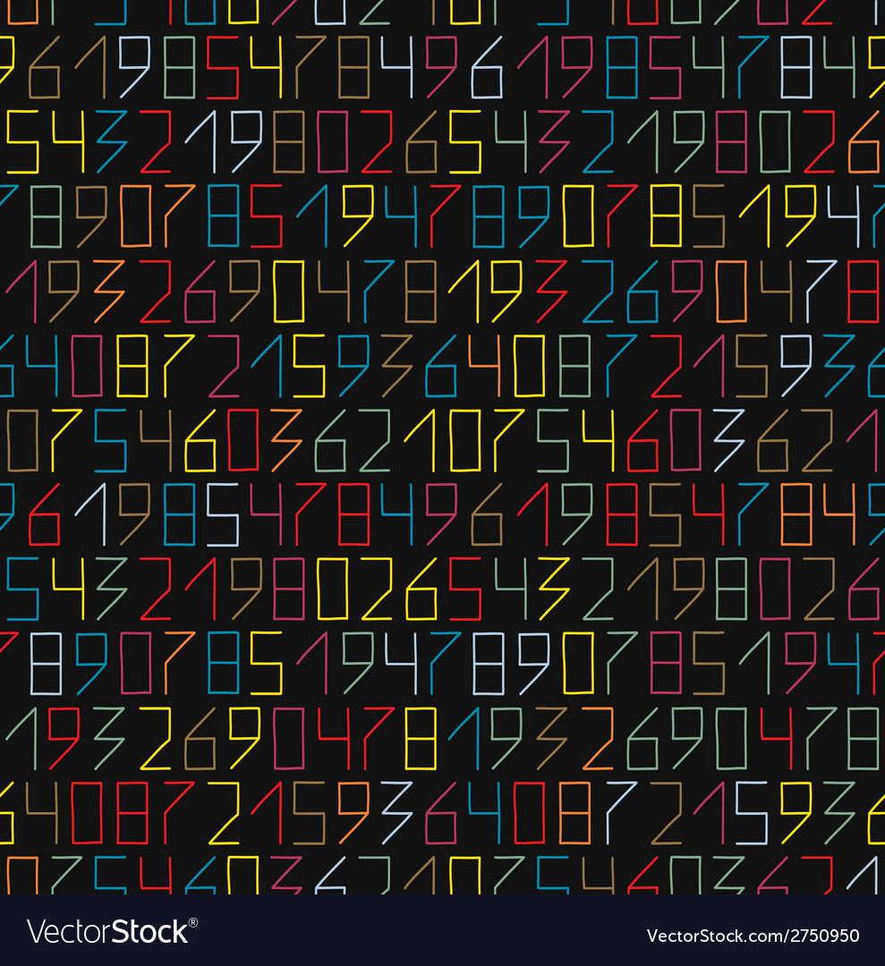 Numbers seamless vector | Price: 1 Credit (USD $1)